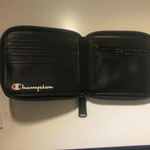 Black Champion Reverse Weave Bi-Fold Wallet